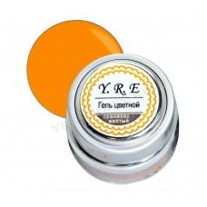 Гель YRE цветной 7гр оранжево-желтый (металлическая баночка)