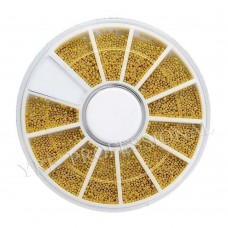 Бульон металлический в карусели золото M