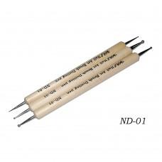 Дотс двухсторонни в наборе 3шт (деревянная ручка)