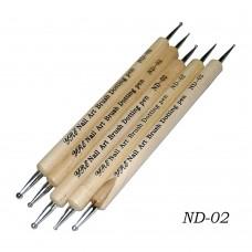 Дотс двухсторонни в наборе 5шт (деревянная ручка)
