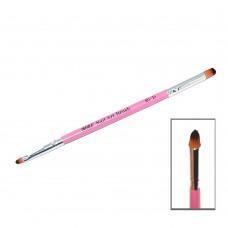 Кисть двухсторонняя (розовая ручка)