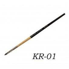 Кисть для геля деревянная ручка зауженный ворс KR-01#