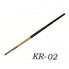 Кисть для геля деревянная ручка зауженный ворс KR-02#