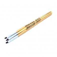 Набор кистей 3шт для геля #04 (деревянная ручка)