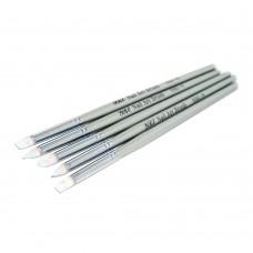 Набор кистей 5шт силиконовые серая ручка