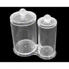 Диспенсер для ватных палочек и спонжей (2 стакана с крышкой) SF-298