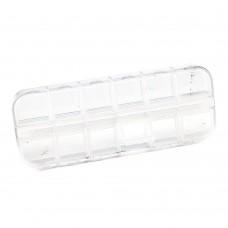 Контейнер 12 секций квадратный прозрачный с крышкой
