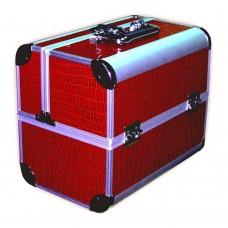 Чемодан-кейс алюминиевый 2629 бордовый лак