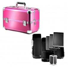 Чемодан-кейс алюминиевый 109 розовый матовый