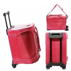 Чемодан-сумка 2700-4 на колесах (кожзам)